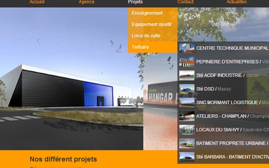 projets site architecture