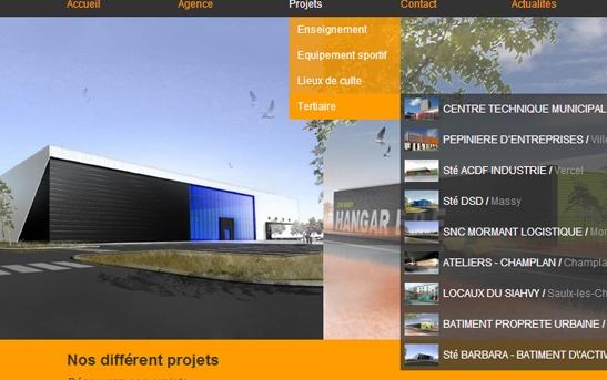 Cr Ation Site Web Architecture Bureaux D 39 Tudes Ing Nierie Site Internet Architecte