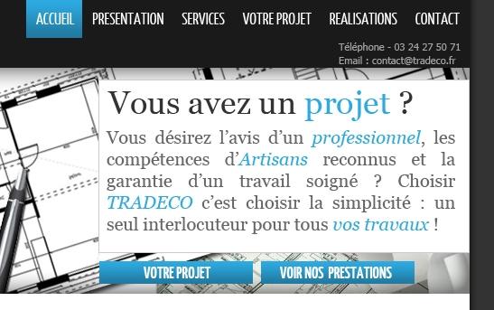 Cr ation site web architecture bureaux d 39 tudes ing nierie site web bureau d 39 tudes tradeco - Bureau d etudes ingenierie ...