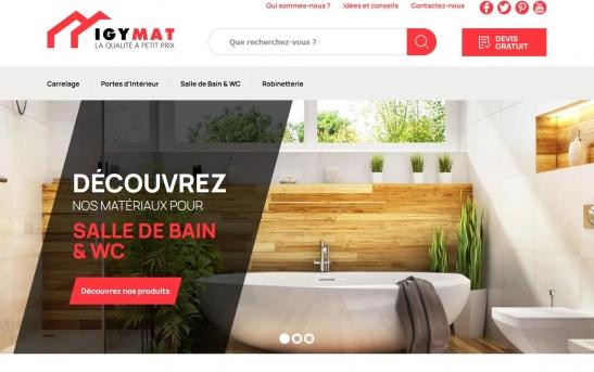 Création Site Internet IGYMAT : Vente de matériaux pour pro