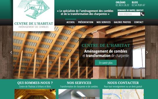 Création site Internet société d'aménagement de combles
