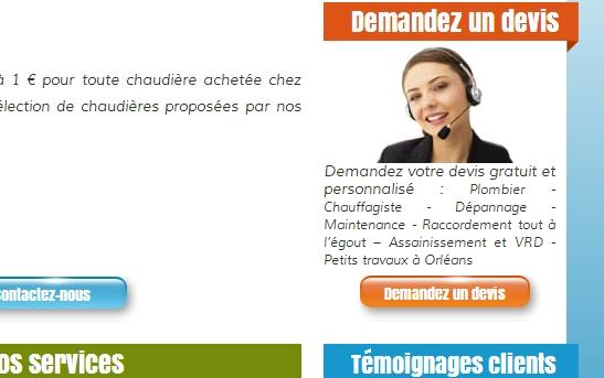 site web devis plombier