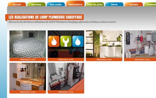 site web plomberie page realisations