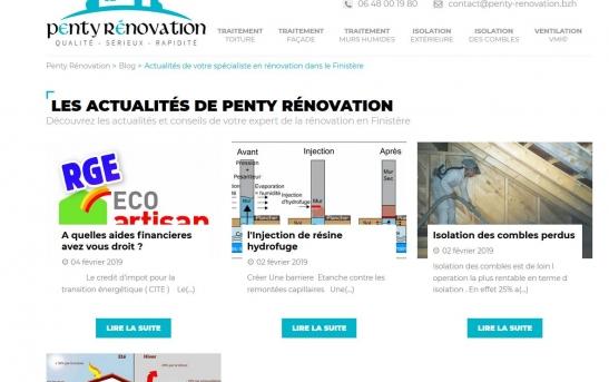 Création site web batiment finistere