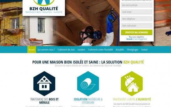 Création site web pour entreprise du bâtiment - Isolation dans le Finistère