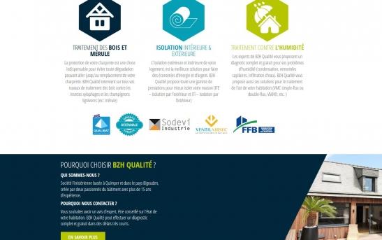 Création site web Finistere pour entreprise du batiment