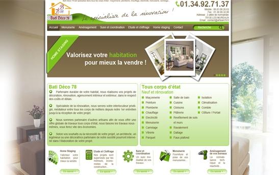 site internet travaux renovation