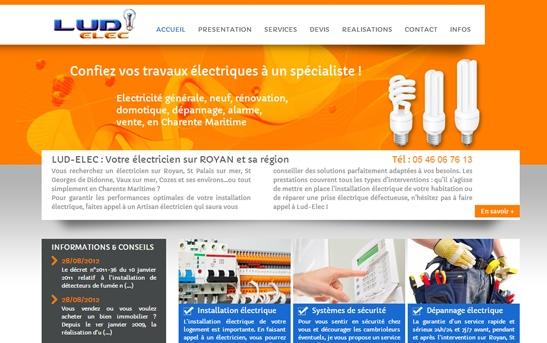 Site Internet Electricité générale
