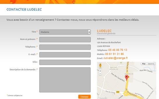 contact site web électricien
