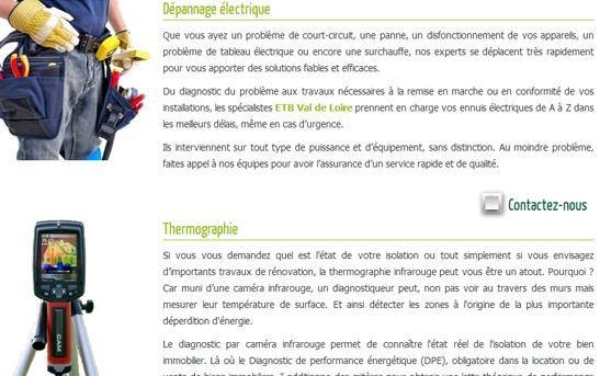 site web electricien