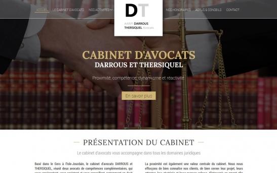 Création Site pour Cabinet d'Avocats dans le Gers