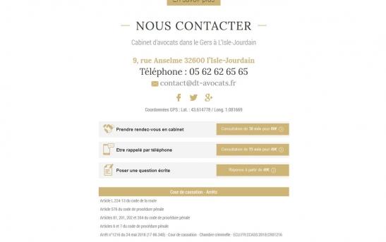 creation site web pour cabinet d'avocats