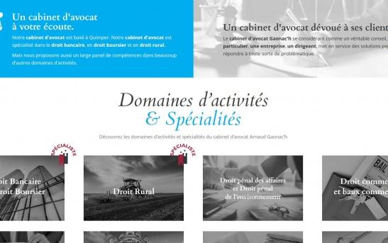creation site web cabinet avocat quimper