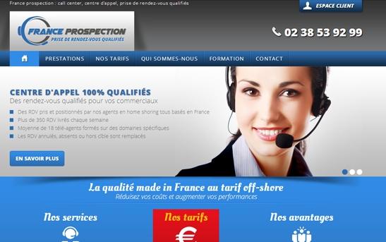Site web call center et prospection commerciale