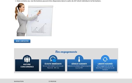 page intérieure site web