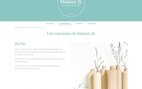 Création d'un site web vitrine magasin à pont-aven finistere