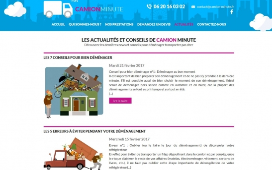 Création site web de déménagement