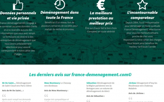 Site web de societe de demenagement
