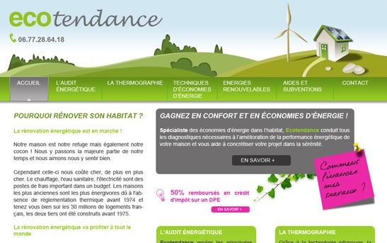 Site Internet économies d'énergie DPE