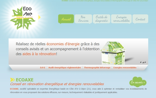 Site Internet Société d'expertise énergétique