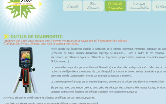 détail site web