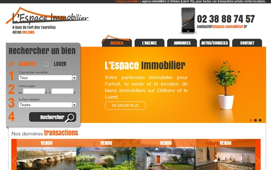 Site web agence immobilière