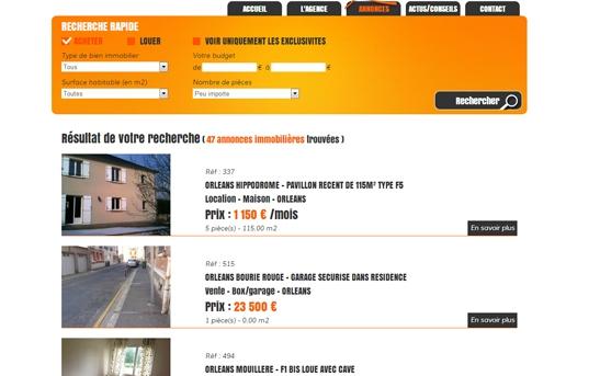 site liste annonces immobilières