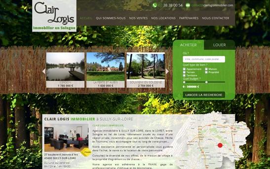 Site web Agence Immobilière en Sologne