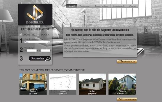 b21dd88e0cc5ff Création site web immobilier   Site web agence JD Immobilier
