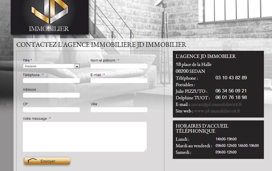 4593e5df0786f4 Site web agence JD Immobilier. site annonces immos. contact site agence  immobilière