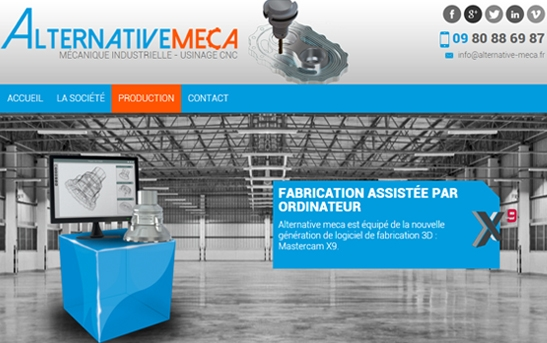 exemple de site web mecanique industrielle