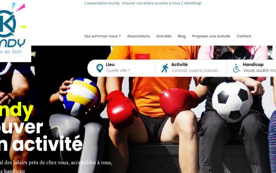 création site web association loisirs KUNDY Finistère Quimper