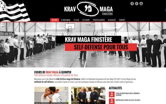 Site Internet association sportive krav maga Quimper