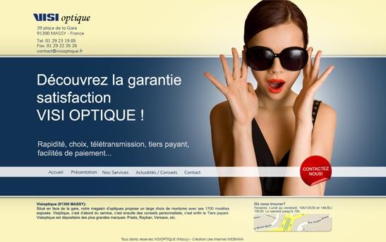 Site web Optique Paris