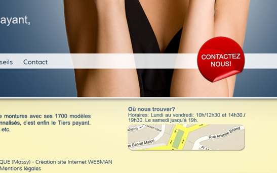 site web commerce plan interactif