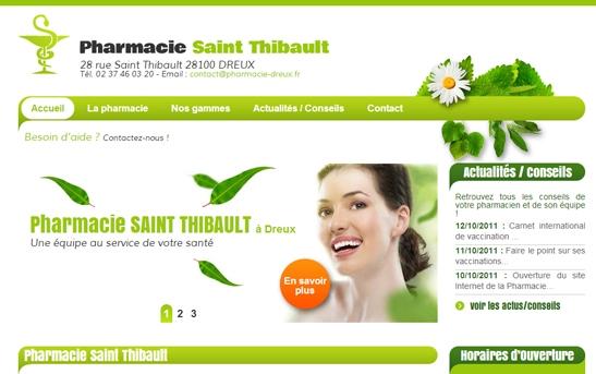 Site web Pharmacie Dreux