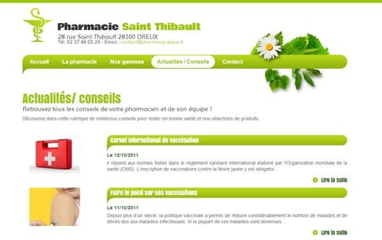 actualités site web pharmacie
