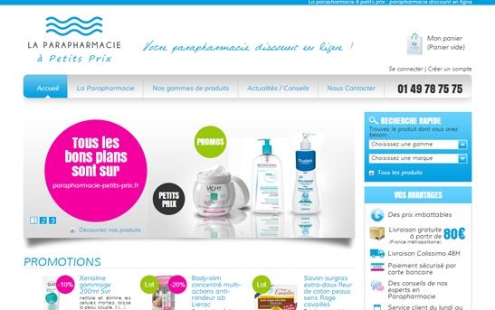 Site web pharmacie e-commerce