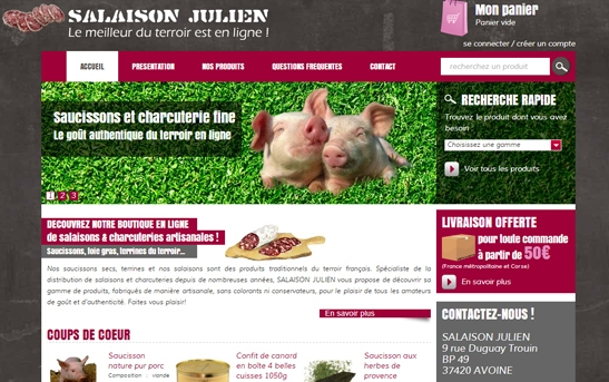 Site web Salaison Terroir