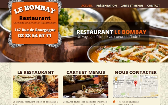 création site Restaurant indien