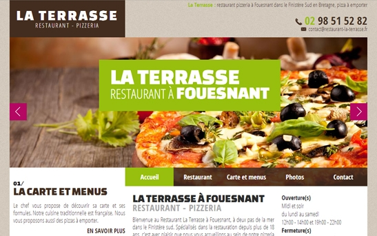 exemple de site internet restaurant et bar