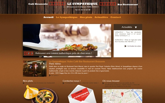 Site web Restaurant Brasserie à Paris
