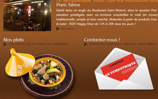 site web restaurant bar