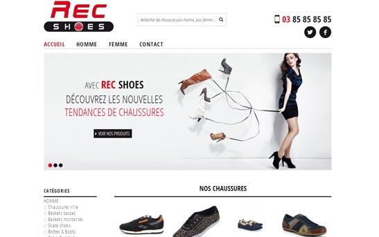 exemple de site ecommerce chaussures
