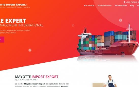 Création Site Internet Déménagement International et Transport Maritime