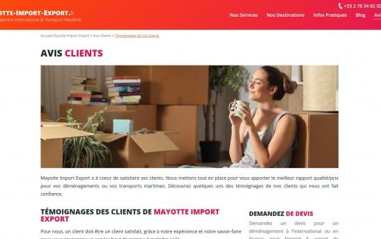 creation site web demenagement