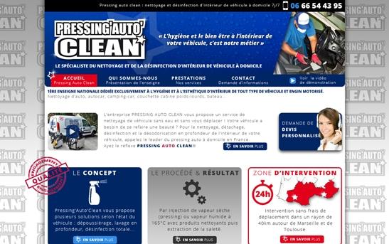 Site Pressing lavage auto à domicile