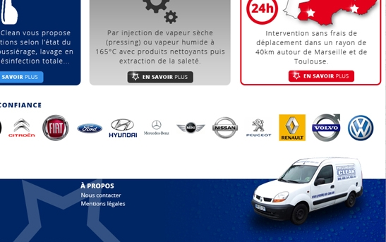 Footer site pressing voiture