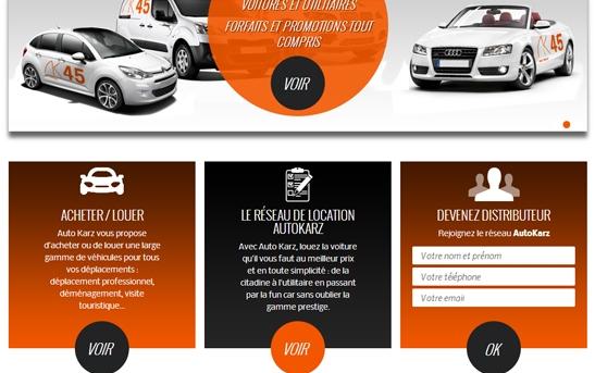 cr ation site web transport site web franchise location voiture. Black Bedroom Furniture Sets. Home Design Ideas