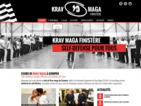 Site Internet association sportive krav maga Quimper